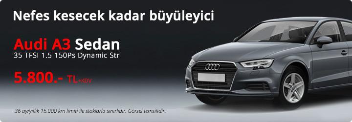 Audi A3 Sedan Filo Kiralama Kampanyası